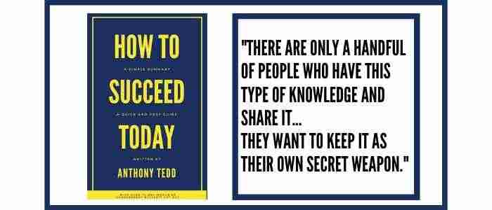 How To Succeed Today Quote