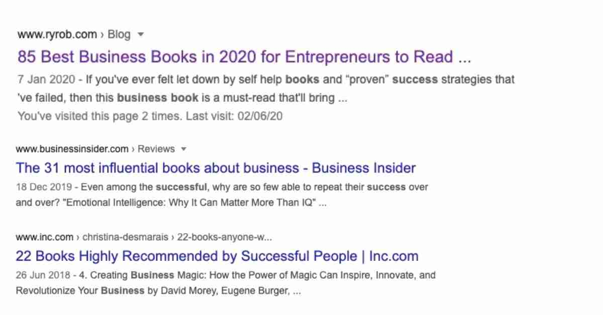 most influential succeed in business books google results