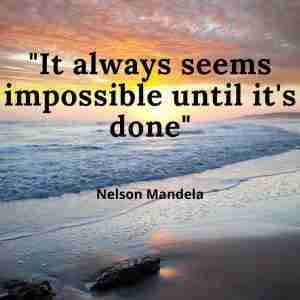 nelson mandela motivational quote on goals
