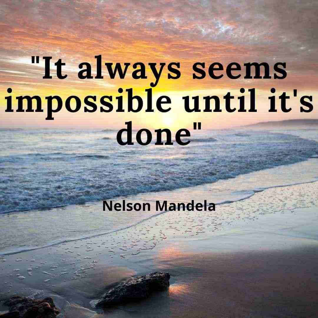 nelson mandela motivational quote on goals